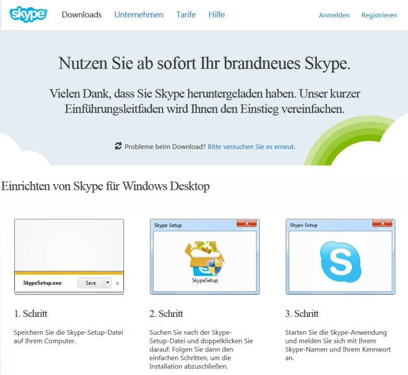 skype ohne download